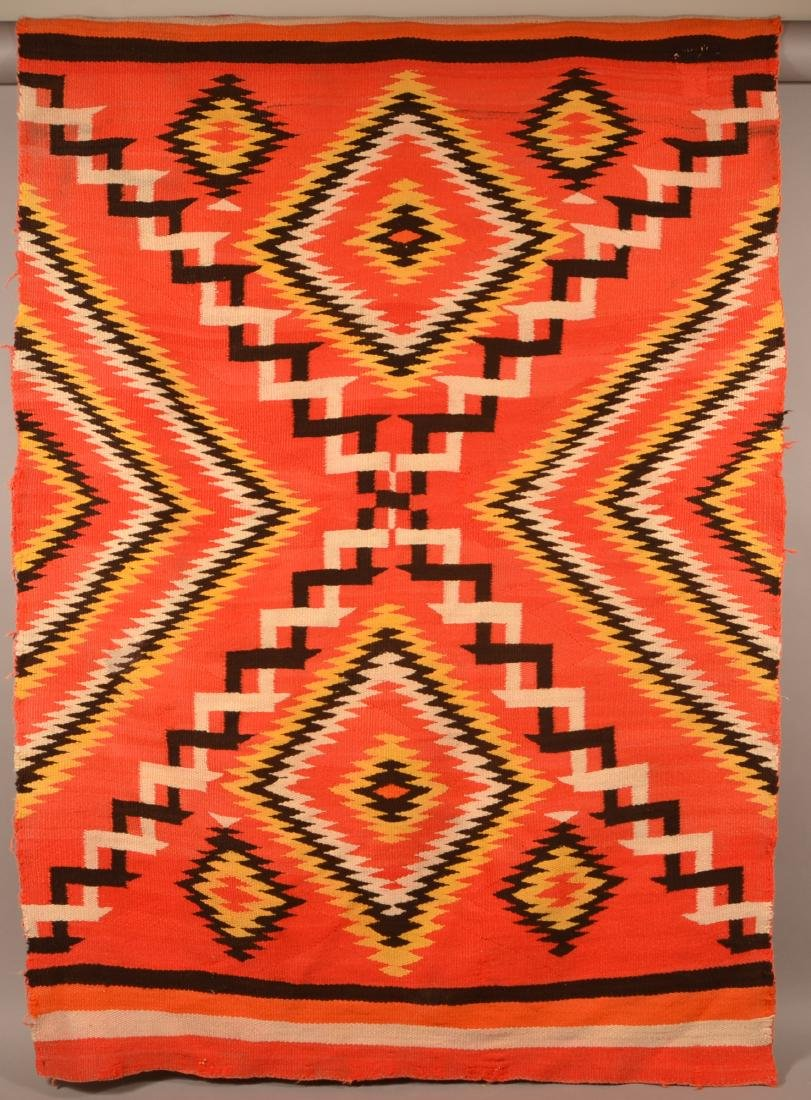 "Antique Navaho Rug 71"" x 51"", Small Area of Damage,"
