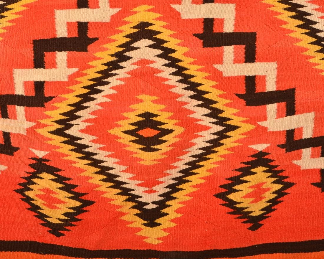 "Antique Navaho Rug 71"" x 51"", Small Area of Damage, - 2"