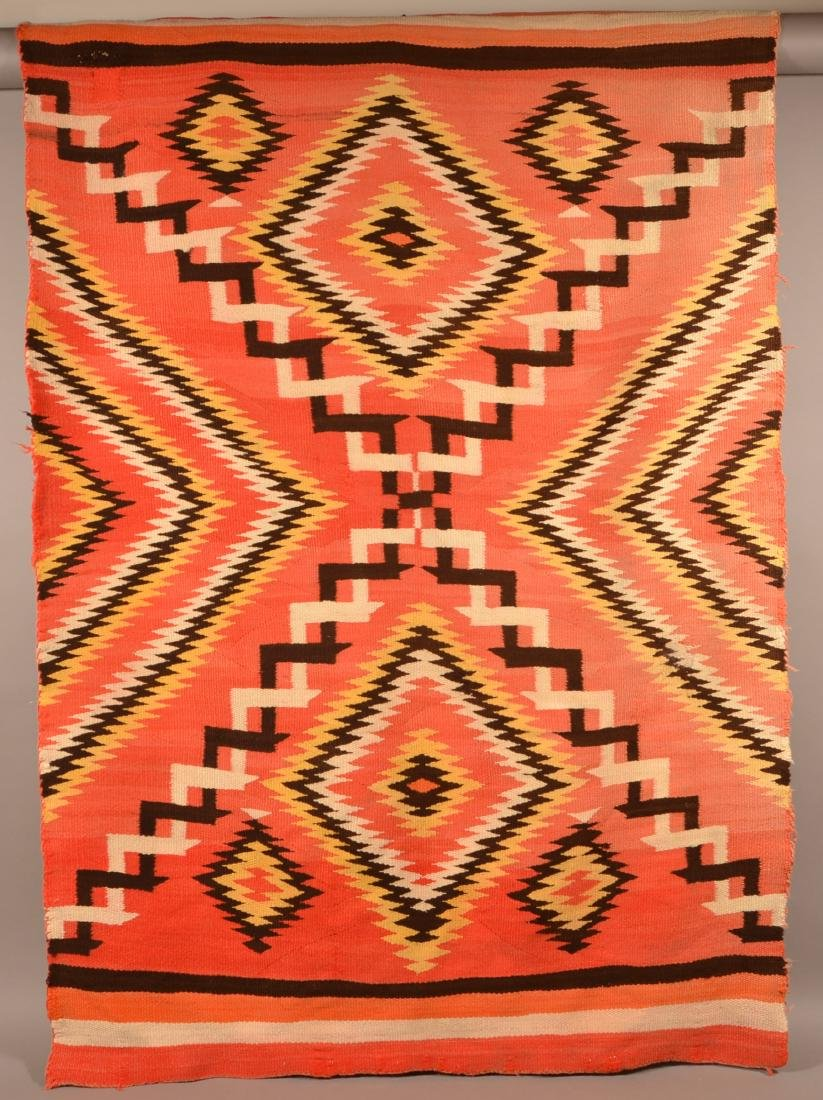 "Antique Navaho Rug 71"" x 51"", Small Area of Damage, - 3"