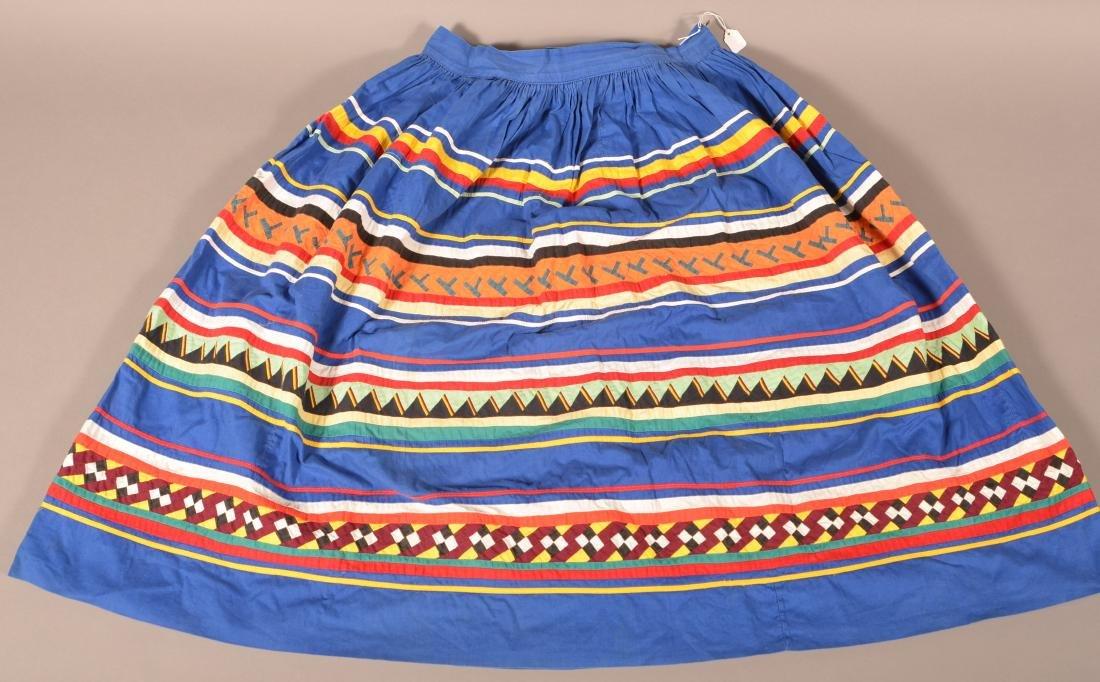 Vintage Seminole Indian Skirt w/ Intricate Patchwork