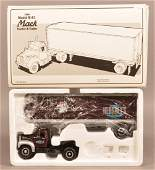 First Gear 1960 Diecast Mack Tractor and Trailer.