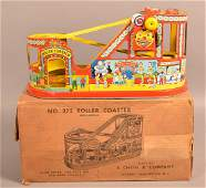 J Chein Tin Lithograph Windup Roller Coaster