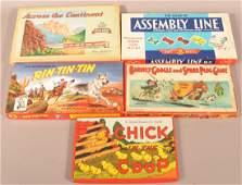 Five Various Vintage Board Games