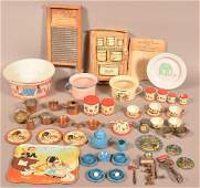 Lot of AntiqueVintage Childrens Metal Cookware