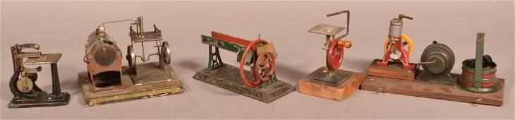 Five Various Vintage Steam Toy Accessories