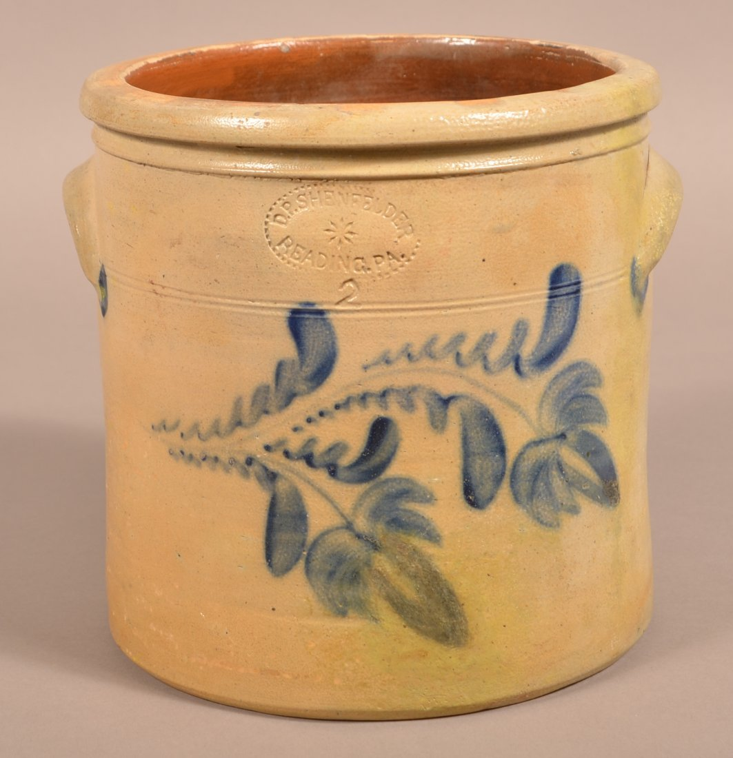 D.P. Shenfelder Two Gallon Crock with Floral