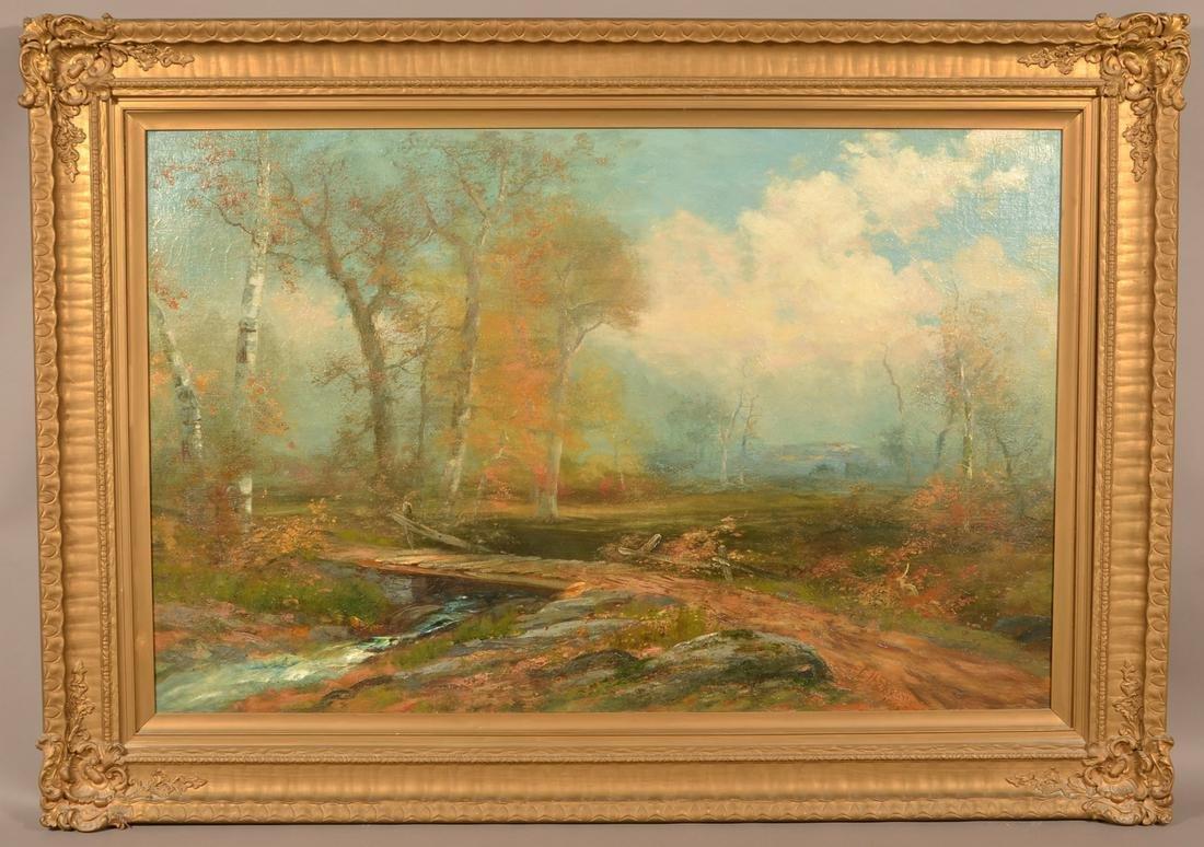 1902 Christopher Shearer Oil on Canvas Landscape.
