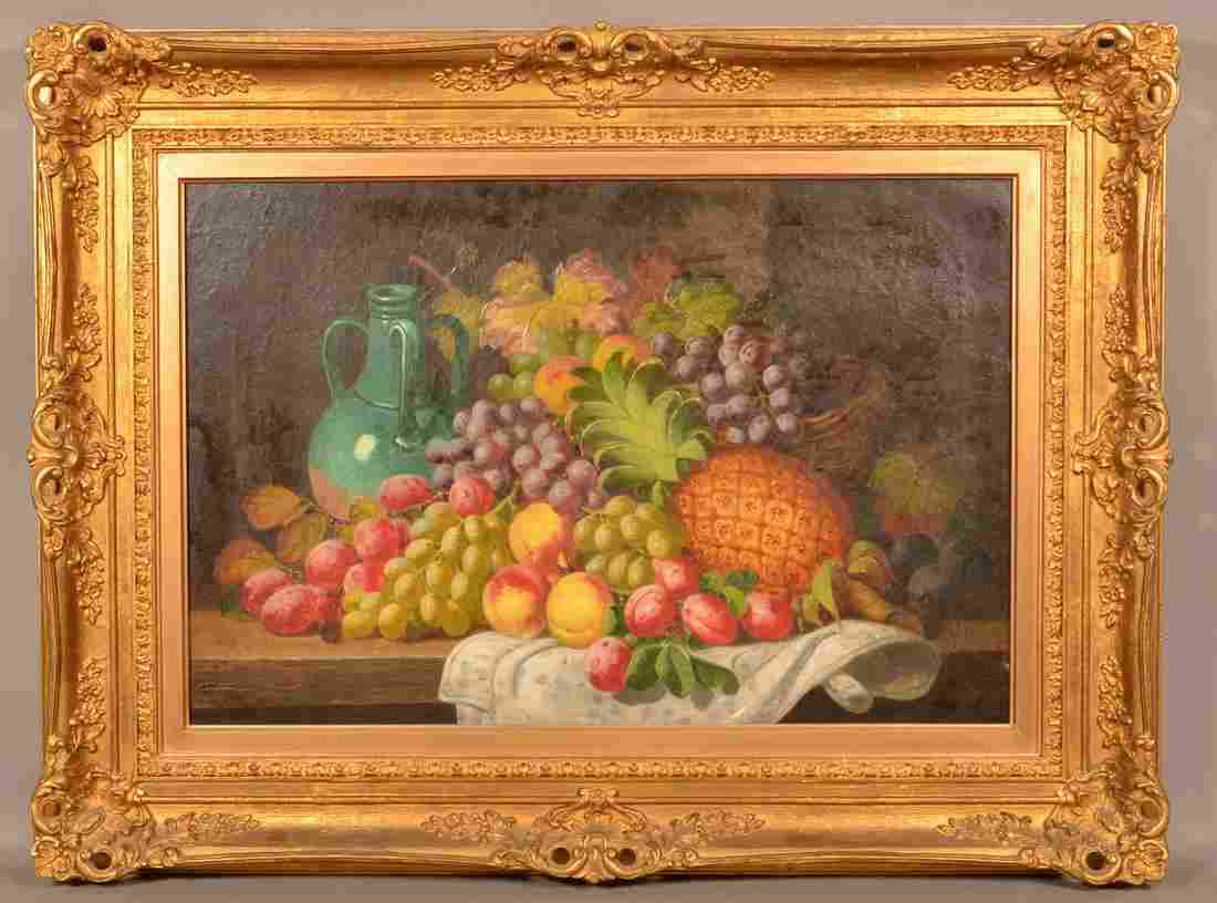 Charles Thomas Bale Oil on Canvas Still Life Painting.