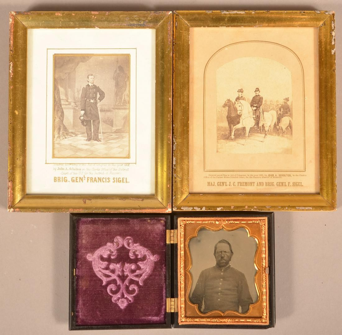 1/6 Plate Tintype of a Civil War Soldier and 2 C/W