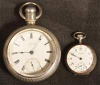 Two Antique Waltham Silver Case Pocket Watches