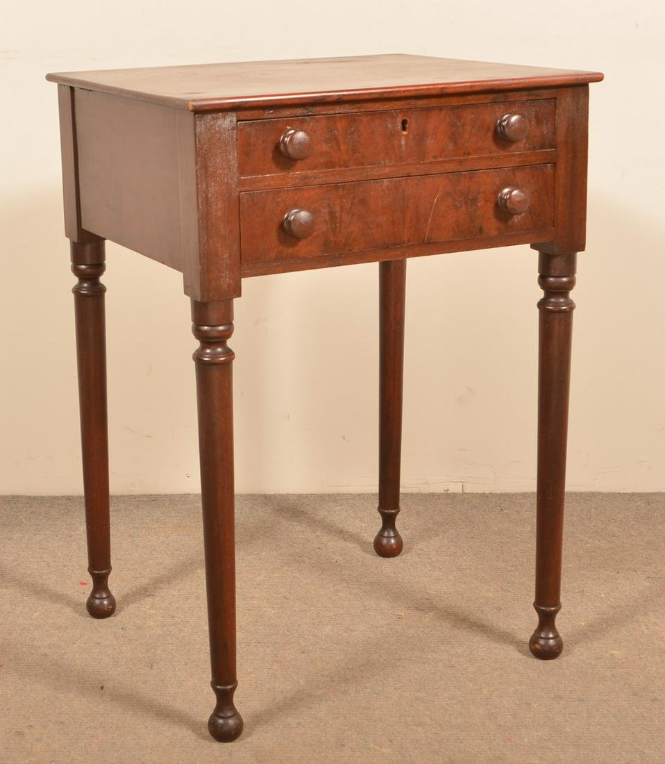 Pennsylvania Federal Walnut Two Drawer Stand.