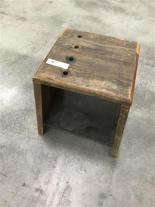 Stupendous Wooden Industrial Stool Short Links Chair Design For Home Short Linksinfo