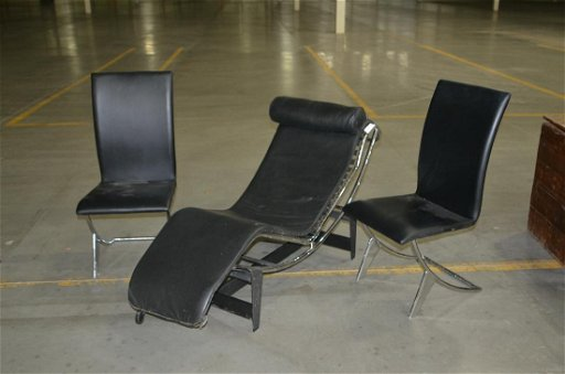 Mid Century Modern Style Lounger And 2 Chairs