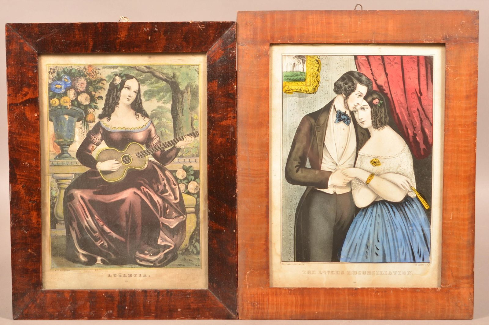 Two 19th Century Grain Painted Frames.