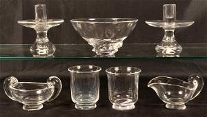 Seven Pieces of Steuben Crystal Art Glass.