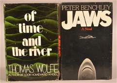 Wolfe Of Time & the River + Benchley Jaws 1st Ed