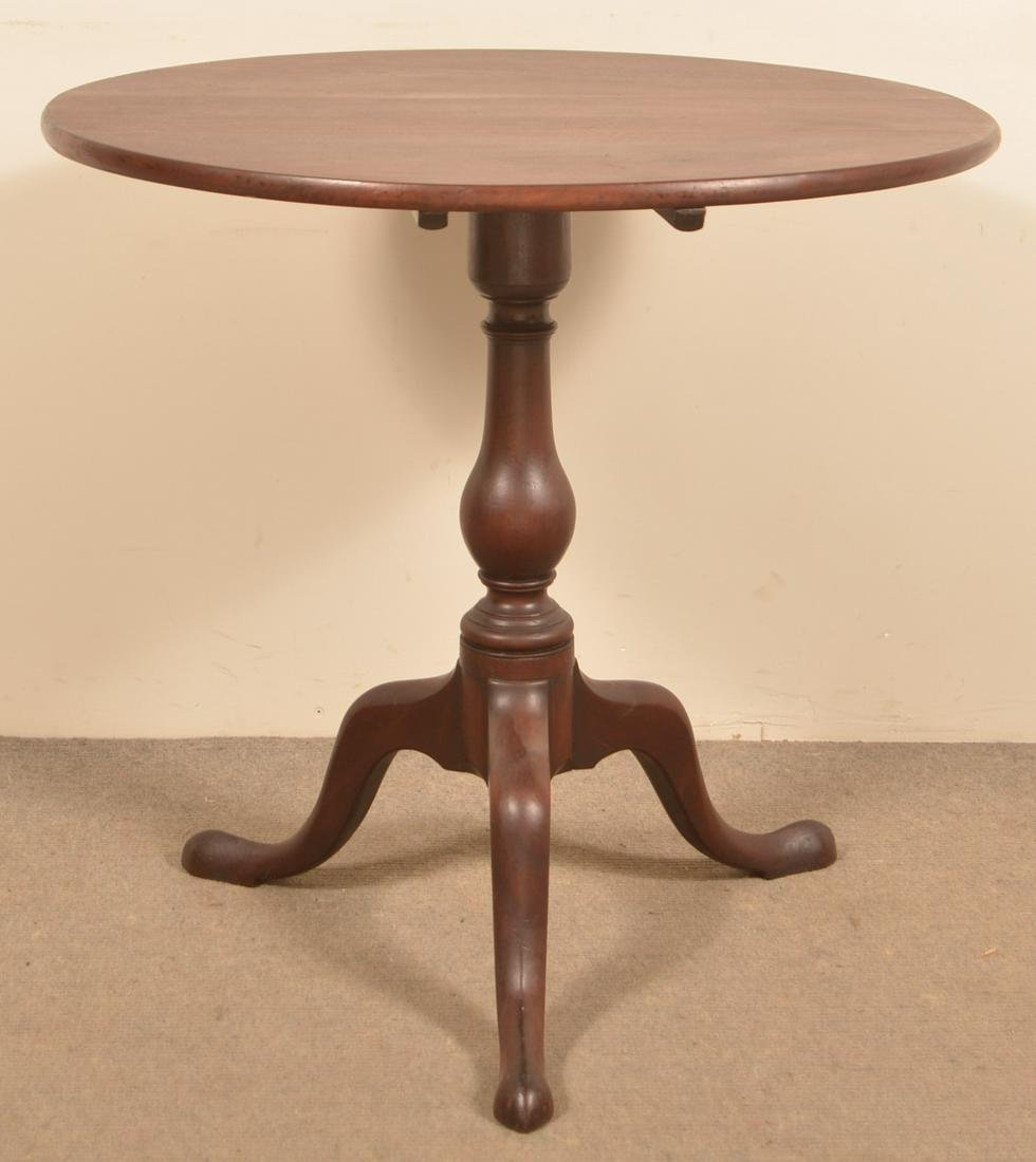 American Queen Anne Cherry Tilt Top Tea Table.