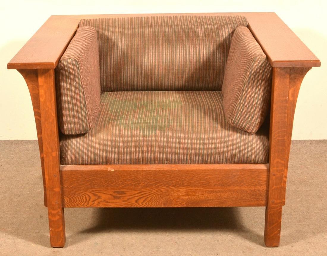 Stickley Oak Arts & Crafts Style Armchair.