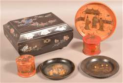 Lot of AntiqueVintage Oriental Woodenwares