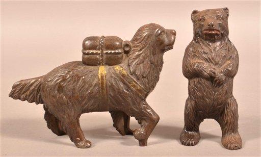 For Auction Two Antique Cast Iron