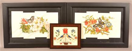 Three Framed Sandra Jean Coldren Items.
