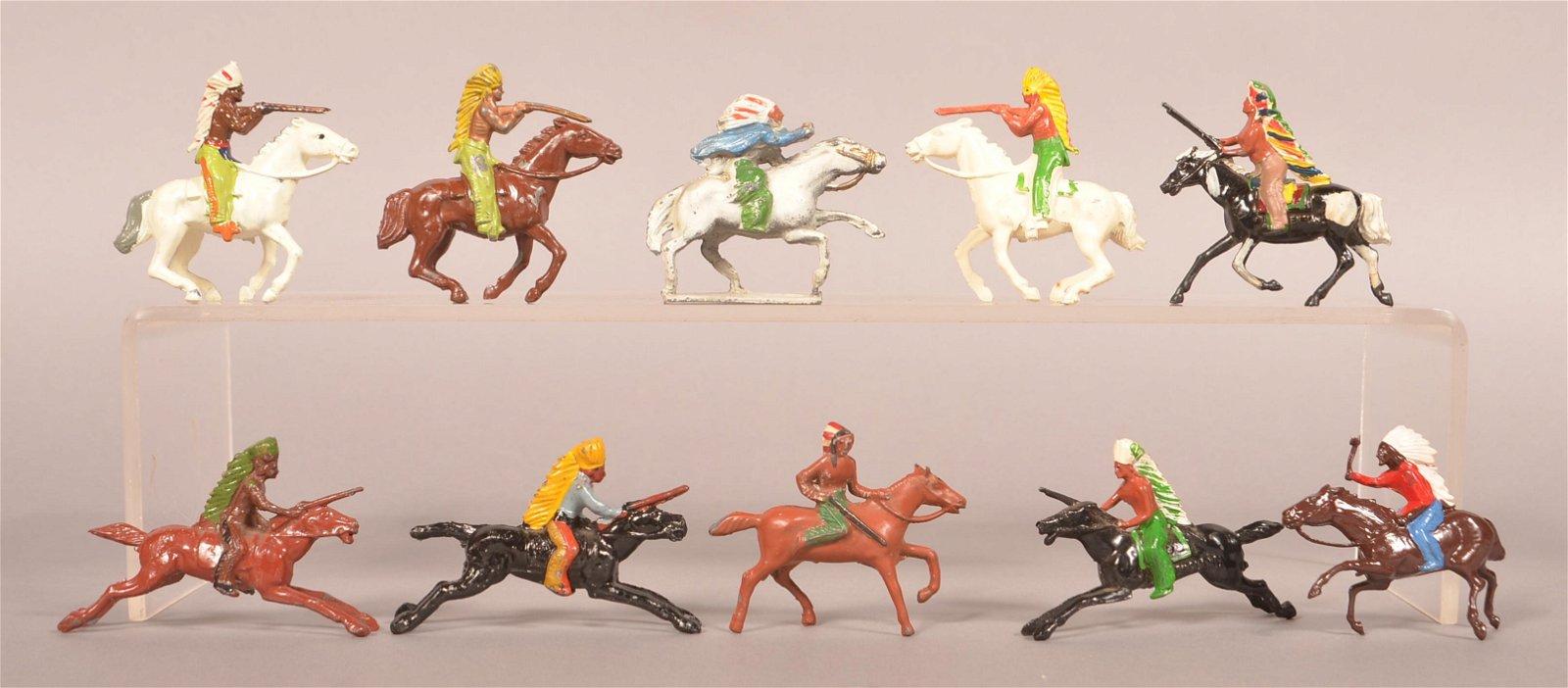 Ten British Made Mounted Indians.