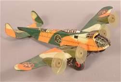 Marx Four Engine Army Bomber Tin Litho Wind-up Toy.