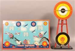 Two Vintage Tin Litho Target Games.
