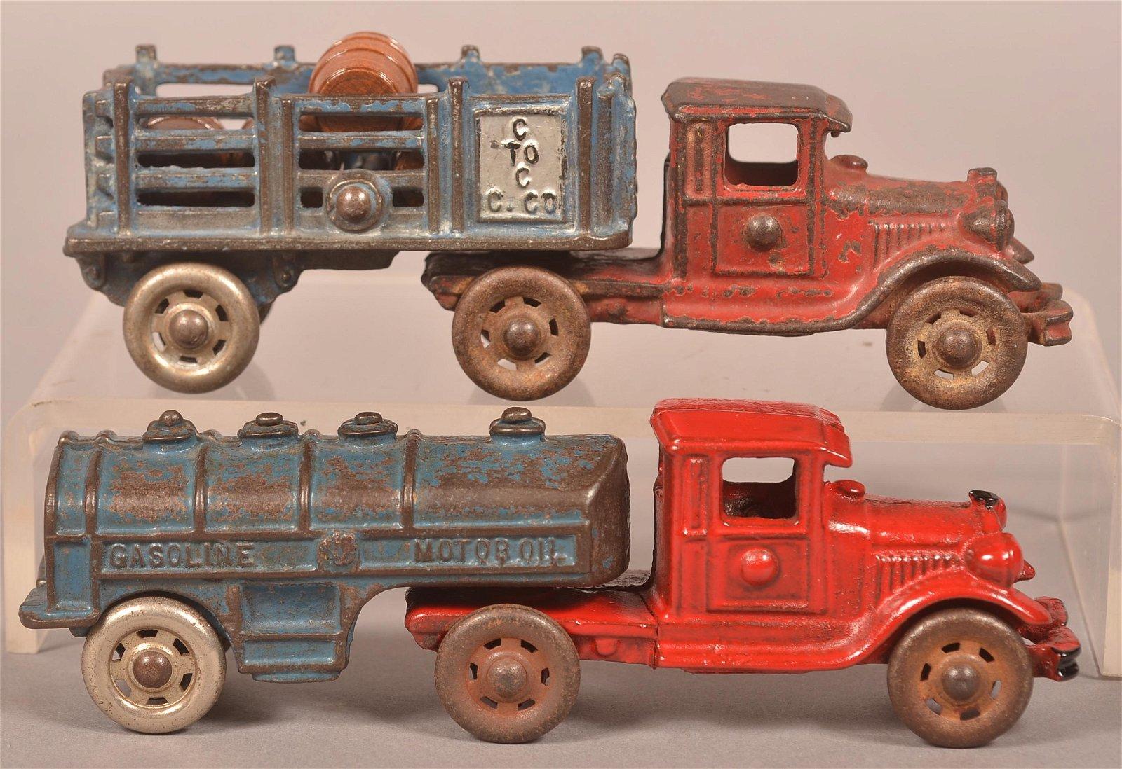 Two AC Williams Cast Iron Trucks.