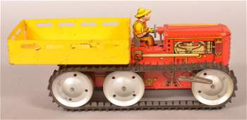 Marx Reversing Tractor Truck Tin Litho WindUp Toy