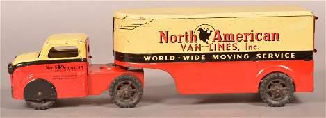 "Banner ""North American Van Lines"" Truck and Trailer."