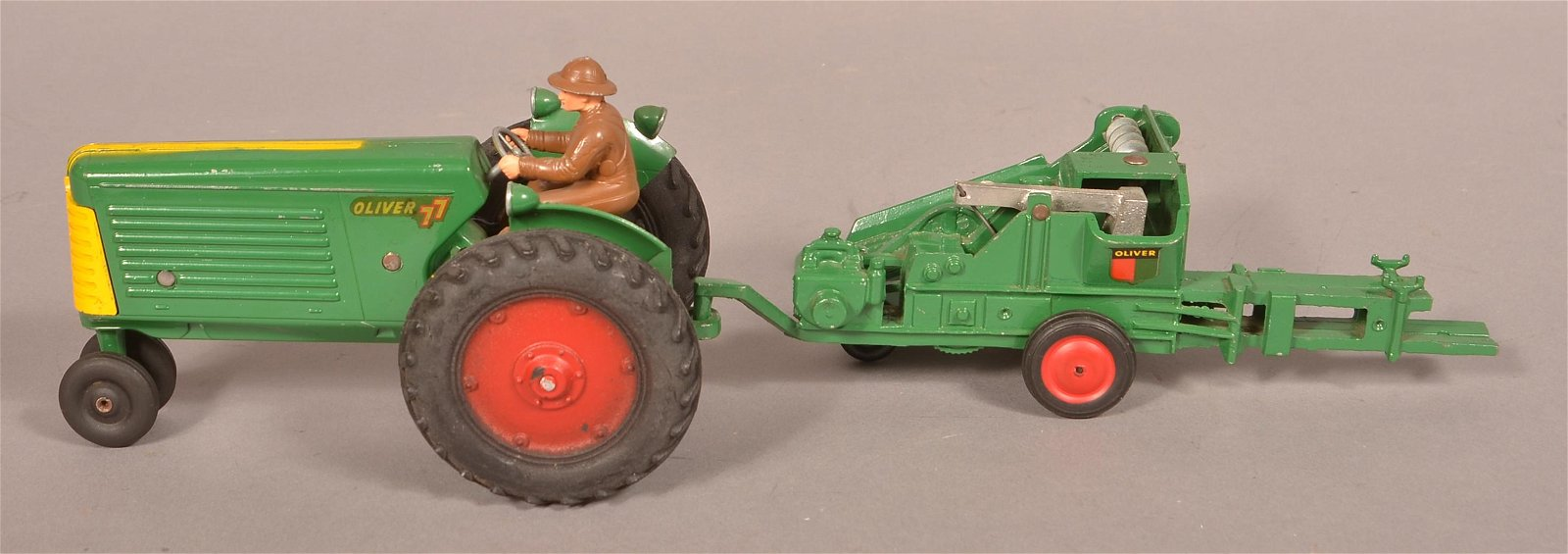 Slik Toy Co. Oliver 77 Tractor with Bailer.