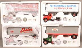 4 First Gear 1960 Model B-61 Mack Tractor and Trailers.