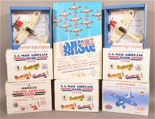 Seven Various Collector's Series Airplane Related Toys.