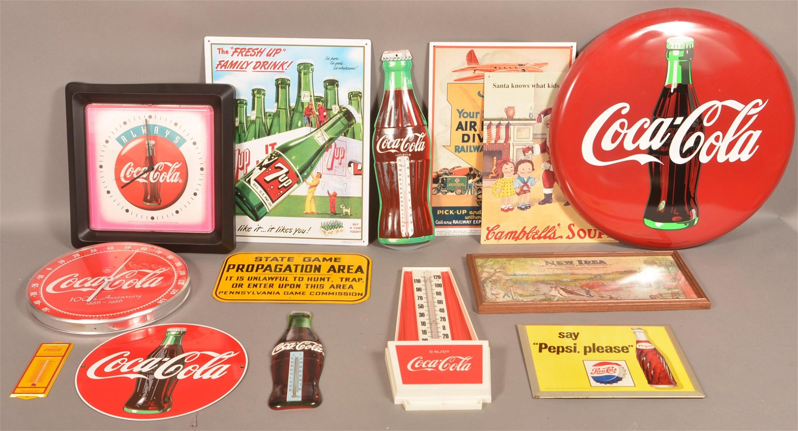 Lot of Vintage and Modern Coca-Cola Advertising Items.
