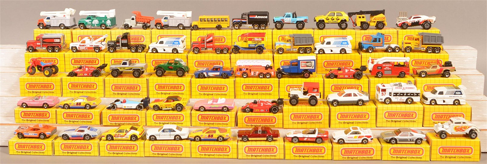 Lot of 50 Matchbox Vehicles in Boxes.