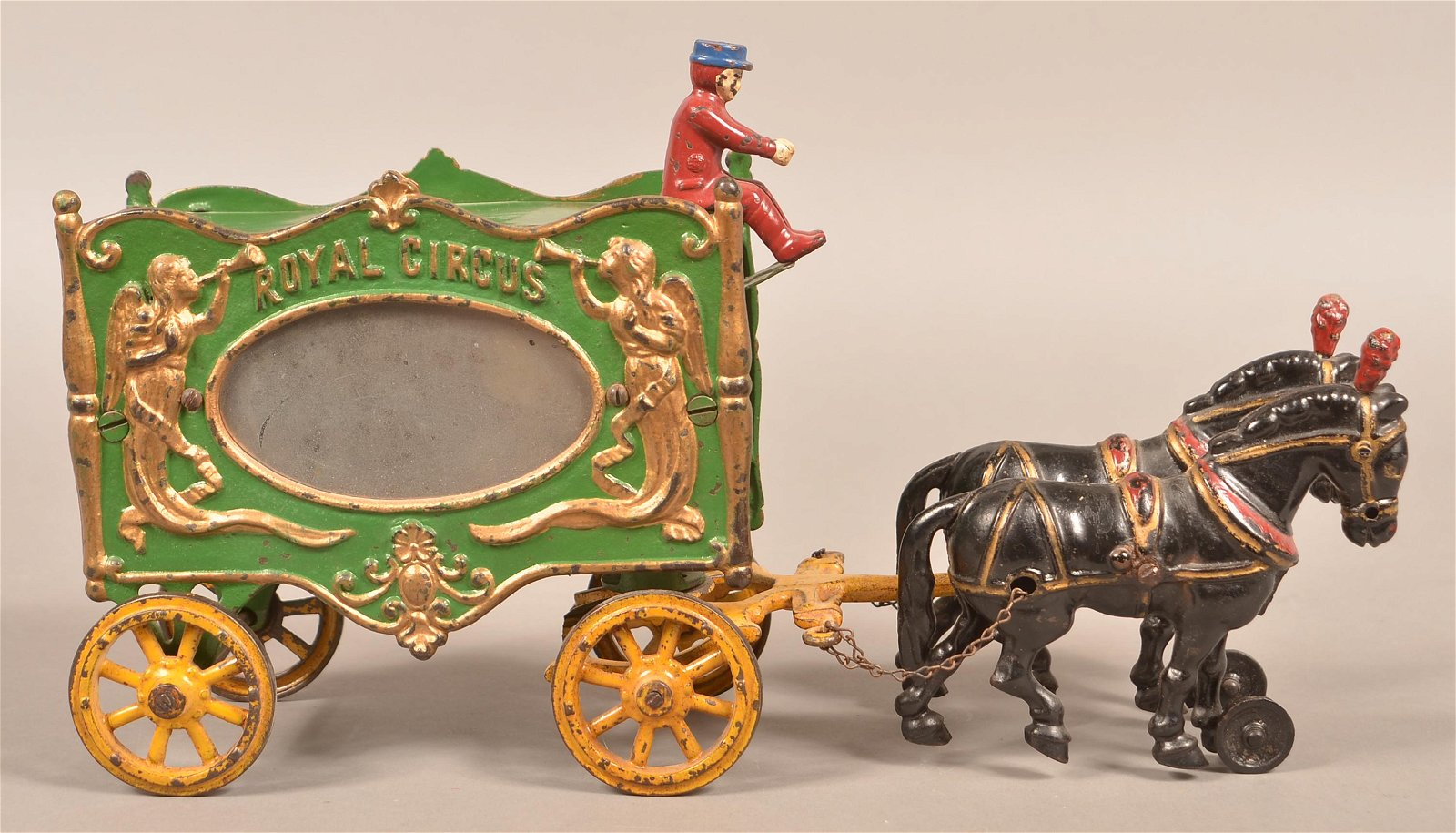 """Hubley Cast Iron """"Royal Circus"""" Pull Toy."""