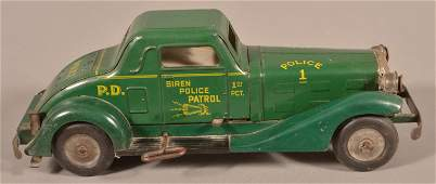 "Marx Tin Litho Wind-up ""Siren Police Patrol""."