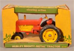 Hubley Diecast  1550  Steering Action Tractor in Box