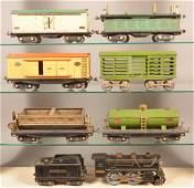 Lionel 384 Standard Gauge 8 Piece Freight Train Set.