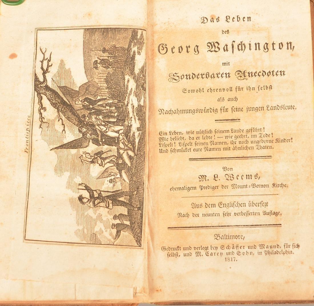 1817 Life of Washington Weems Penna German Ed