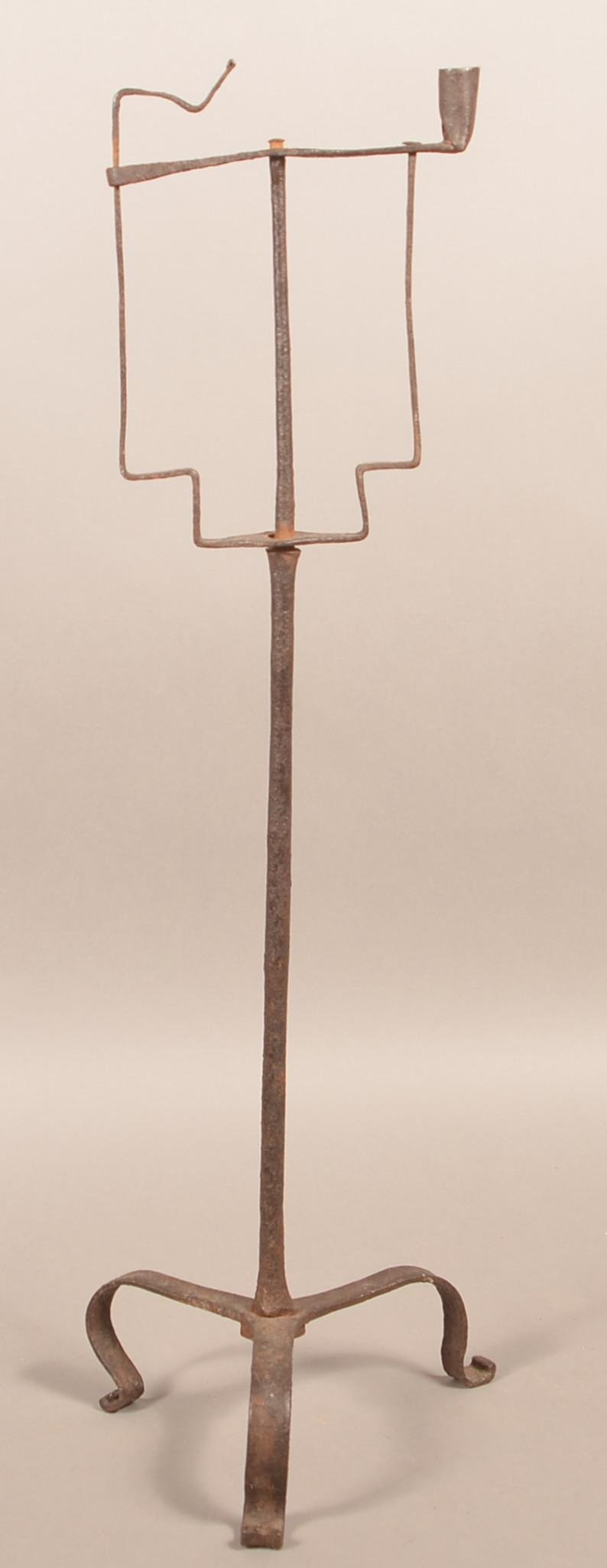 Antique Wrought Iron Combination Lamp.