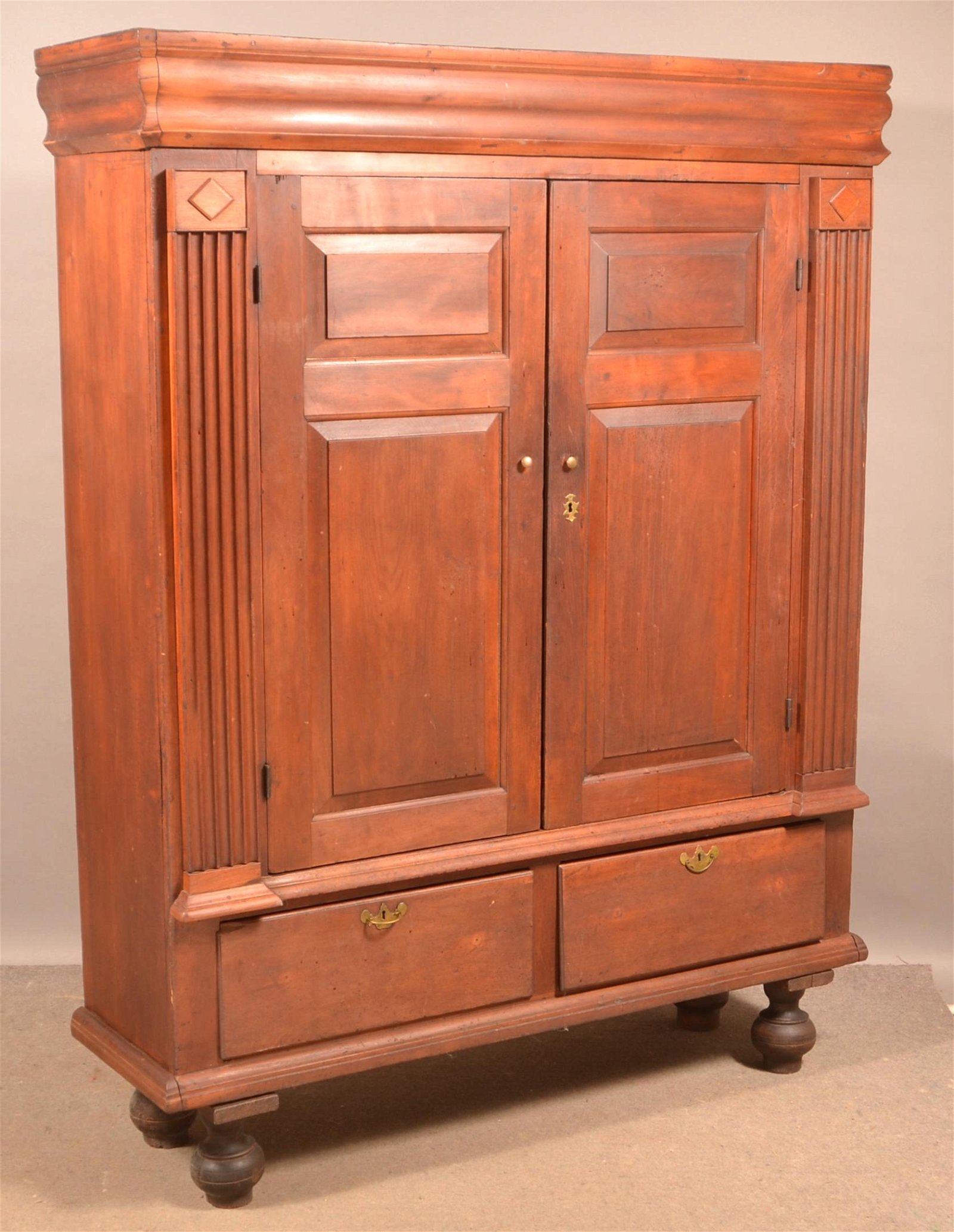 Late 18th Century Architectural Gumwood Kas.