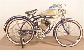 Vintage Whizzer Motor Bike Kit on a Road Master Bike