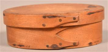 Shaker 19th Century Oval Bentwood Band Box