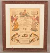 Johann Ritter Birth and Baptismal Certificate.