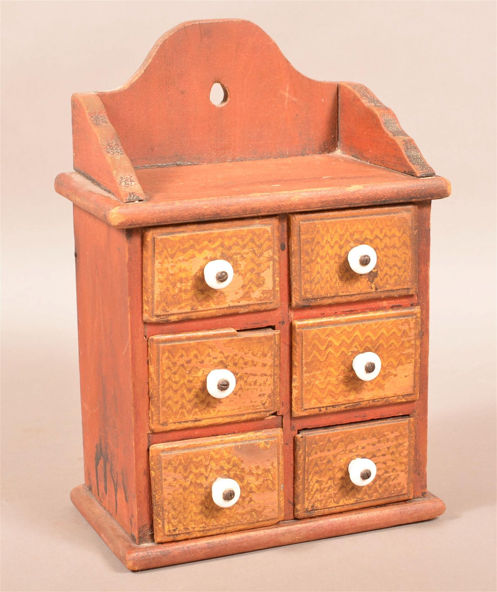 Paint-Decorated Seed Box Attributed to Henry Lapp.