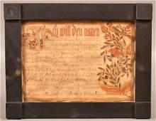 Christian Strenge 1803 Vorschrift Fraktur