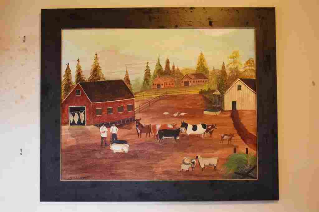 Keith Collis Oil On Canvas Farm Scene