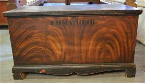 19th Century Ohio Paint-Decorated Blanket Chest